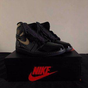 Nike Air Jordan 1 Retro High OG Patent Black Metal